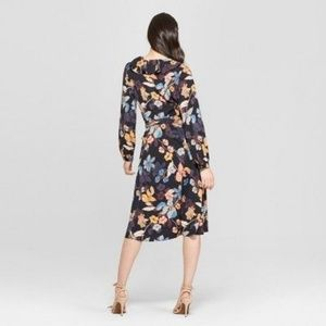 Who What Wear Dresses - NWOT Who What Wear floral ruffle midi wrap dress